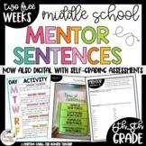 Mentor Sentences for Middle School Grammar   6th 7th 8th   FREE WEEKS   DIGITAL