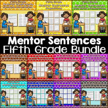 Mentor Sentences for Revising and Editing  {Fifth Grade Growing Bundle}