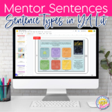 Mentor Sentences from YA Lit - Types of Sentences and Narr