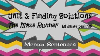 Mentor Sentences with James Daschner's novel The Maze Runner