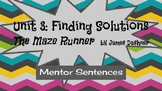 Mentor Sentences with James Daschner's novel The Maze Runner