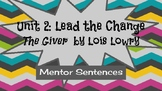 Mentor Sentences with Lois Lowry's novel The Giver