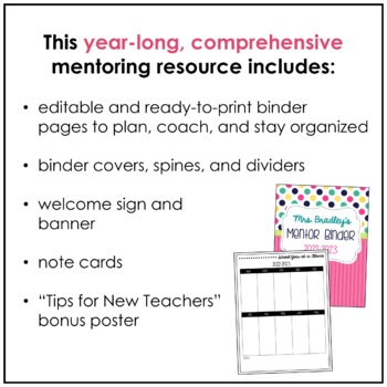 Mentor Teacher Binder and Resources