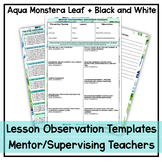 Mentor Teacher/Prac Supervisor Feedback Template