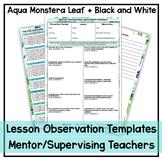 Mentor Teacher/Prac Supervisor Feedback Template