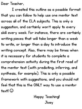 Mentor Text Integration Outline {grades 3-5}