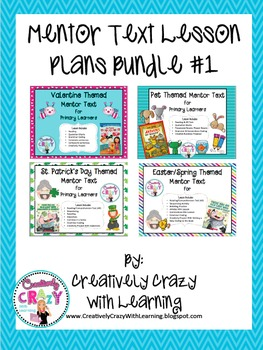 Mentor Text Lesson Plans Bundle #1 by Creatively Crazy With Learning