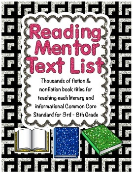 Mentor Text List Aligned With All Common Core Reading Standards
