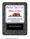 Mentor Text List for 11 Different Fiction and Nonfiction Genres