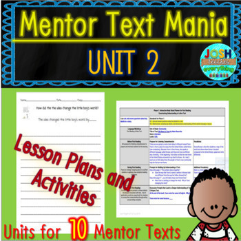 Read Aloud Lesson Plan and Activities Bundle (Mentor Text Mania Unit 2)
