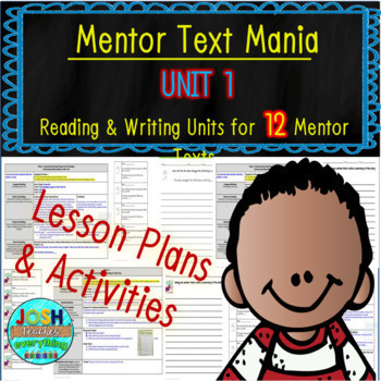 Read Aloud Lesson Plan and Activities Bundle (Mentor Text Mania Unit 1)