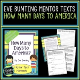 Mentor Text Moments:  How Many Days to America by Eve Bunting