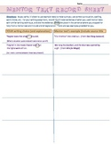 Mentor Text - Record Sheet for writing assigments