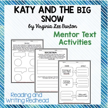 Mentor Text Unit for Katy and the Big Snow
