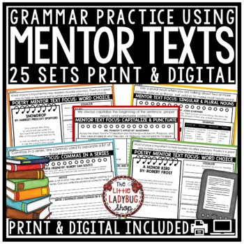 Mentor Sentences 4th Grade, 3rd Grade- Grammar Practice & Mentor Text  Writing