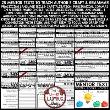 Mentor Sentences: Writing Grammar Skills Practice 3rd- 4th Grade Mentor Texts