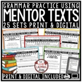 Mentor Sentences and Text Writing Unit 4th Grade, 5th & More