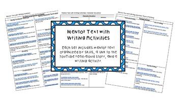 Mentor Text with Writing Activities 3 SET BUNDLE