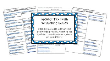 Mentor Text with Writing Activities 3 SET BUNDLE