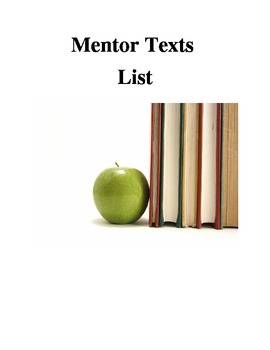 Writing Strategies - Mentor Texts