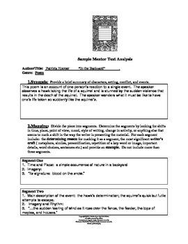 Mentor Texts Graphic Organizer