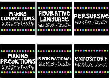 Mentor Texts Labels for all subjects!