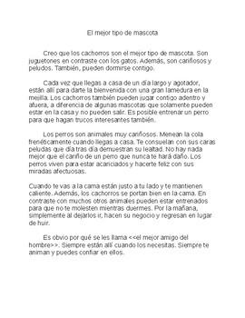 Mentor Texts: Personal Essays en Español/ Ensayos personales