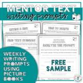 Mentor Texts Writing Prompts (Free Sample)