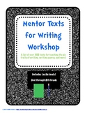 Mentor Texts for Writing Workshop