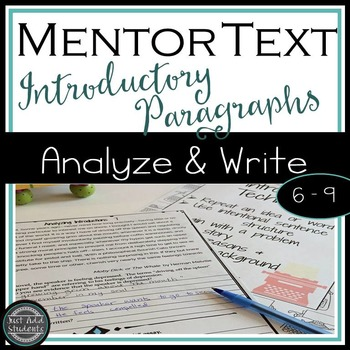 Mentor Texts for Writing Introductions