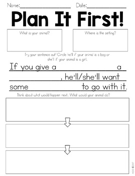 Mentor Writing based off Laura Numeroff's If You Give A series