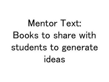 Mentor text ideas