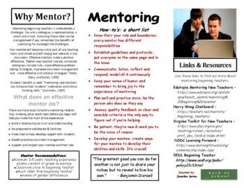 Mentoring Beginning Teachers Pamphlet by Jennifer A. Gates