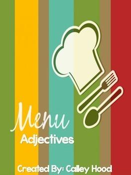 Menu Adjectives