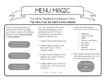 Menu Magic