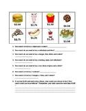 Menu Math 1, Basic dollars and cents