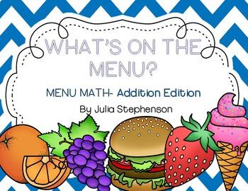 Menu Math- Addition Edition
