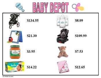 Menu Math- Baby Depot