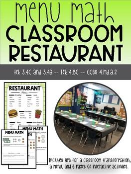 Value of Money Activity Classroom Restaurant Transformation