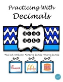 Menu Math (Comparing and Ordering Decimals)