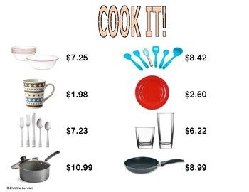 Menu Math- Cook It!