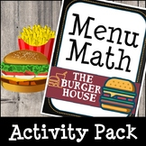 Menu Math - Fast Food (Math Activities & Interactive Play)