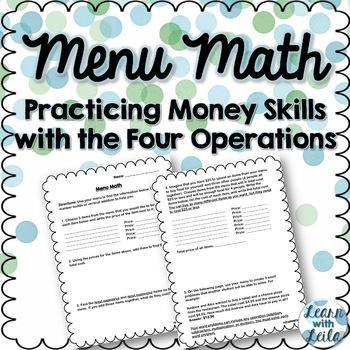 Four Operations Menu Math