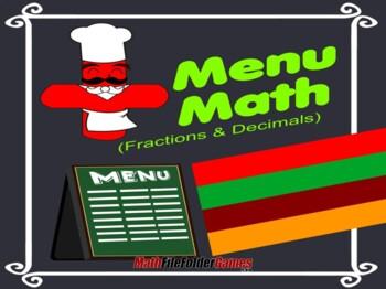 Menu Math (Fractions & Decimals)