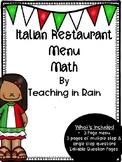Menu Math- Italian Restaurant