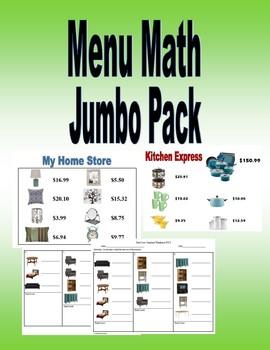 Menu Math Jumbo Pack