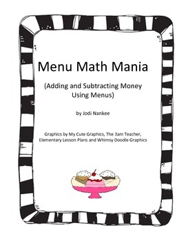 Menu Math Mania with Money