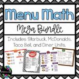 Menu Math Mega Bundle