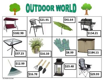 Menu Math- Outdoor World