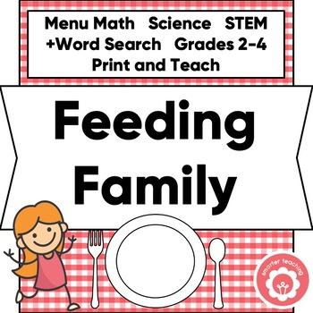 Menu Math STEM: Feeding My Family
